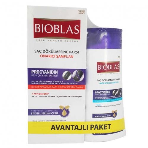 Bioblas - Bioblas Üzüm Çekirdeği Ekstresi Saç Dökülmesine Karşı Onarıcı Bakım Seti