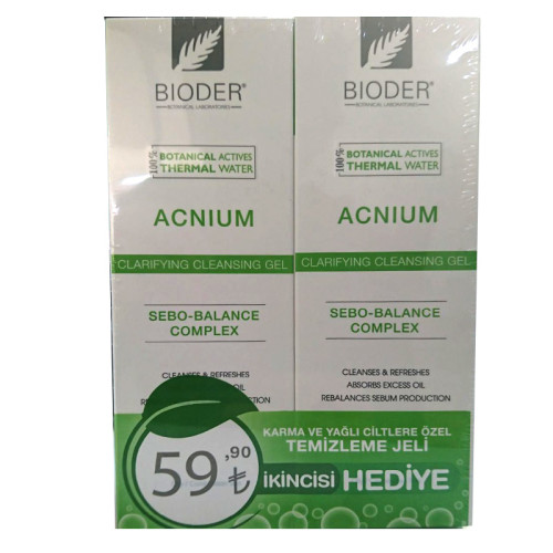 Bioder - Bioder Acnium Clarifying Cleansing Gel 2x180ml