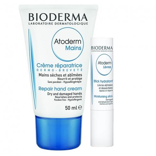 Bioderma - Bioderma Atoderm Hand & Nail Cream 50ml   Lip Stick 4gr HEDİYE