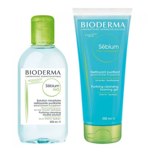 Bioderma Sebium Foaming Gel 200ml + Sebium H2O 250ml