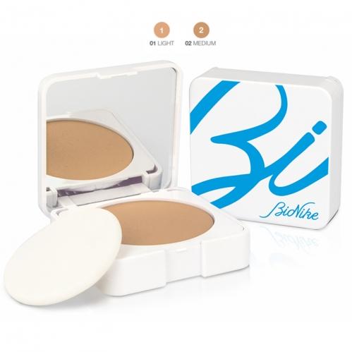 BioNike - BioNike Acteen Make-Mat Yağlı ve Sivilcelenmeye Eğilimli Ciltler İçin Kompakt Fondöten Spf50 9ml