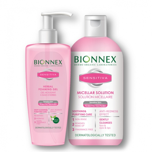 Bionnex Sensitiva Misel Solüsyon 250ml + Bionnex Sensitiva Yüz Yıkama Jeli 200ml