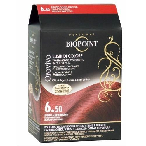 Biopoint - Biopoint Orovivo Saç Boyası 6.50 Akaju Kızıl