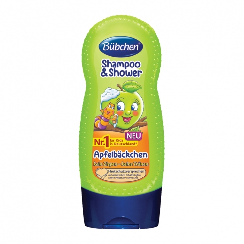 Bübchen - Bübchen Çocuk Şampuanı ve Duş Jeli Elma Özlü 230 ml