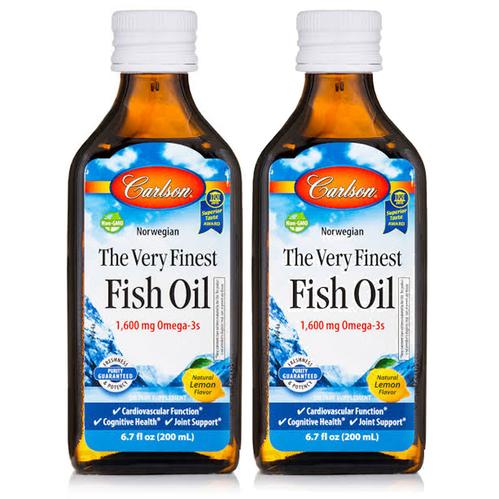 Carlson - Carlson Fish Oil Omega 3 Balık Yağı Şurubu Limon Aromalı 200ml(2'li)