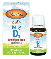 Carlson - Carlson Kids Daily D3 400 IU Per Drop 10.3ml