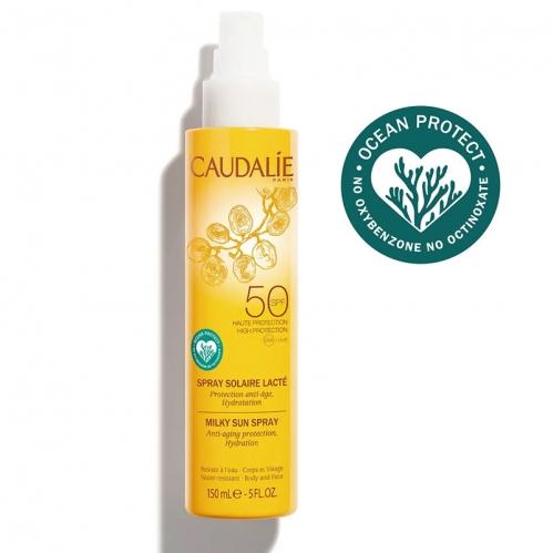 Caudalie - Caudalie Kırışıklık Karşıtı Güneş Koruyucu SPF50 Yüz ve Vücut Sütü 150 ml