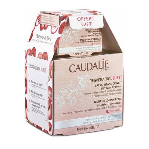 Caudalie - Caudalie Resveratrol Lift Night Infusion Cream 50ml   Face Lifting 15 ml HEDİYE