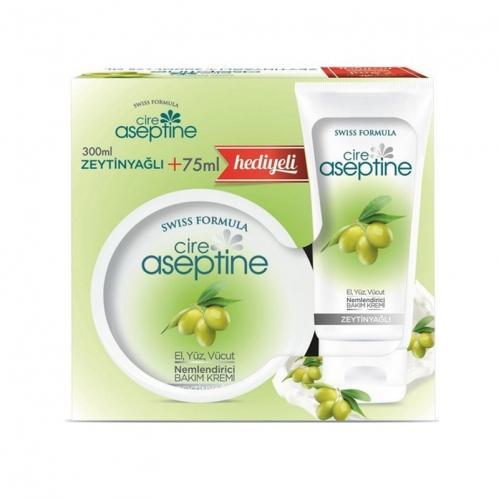 Cire Aseptine - Cire Aseptine 300 ml Zeytinyağlı Nemlendirici Bakım Kremi + 75 ml HEDİYELİ