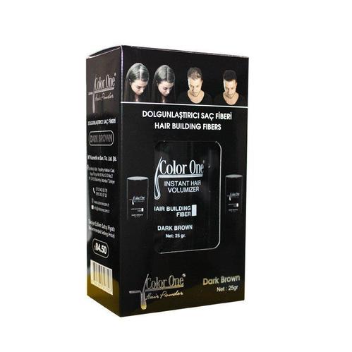 Color One - Color One Hair Building Fibers 25 gr Dark Brown