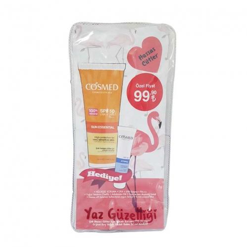 Cosmed - Cosmed Çok Hassas Ciltler İçin Güneş Kremi Spf50 50 ml - Yoğun Dudak Balmı HEDİYE!