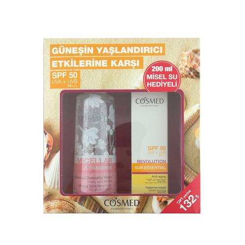 Cosmed - Cosmed Güneşin Yaşlandırıcı Etkilerine Karşı Spf +50 Krem 40 ml + Misel Su 200 ml HEDİYELİ