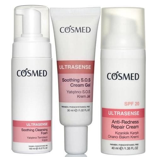 Cosmed - Cosmed Kızarık ve Hassas Ciltlere Komple Bakım Seti