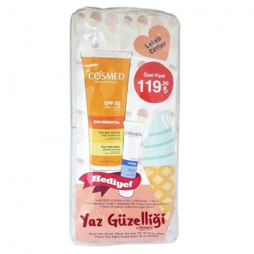 Cosmed - Cosmed Sun Essential Koyu Leke Karşıtı Yüksek Koruma SPF50 50 ml - Yoğun Dudak Balmı HEDİYE!
