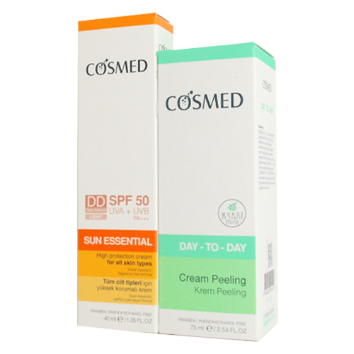 Cosmed - Cosmed Sun Essential Spf50 DD Cream 40 ml + Day to Day Cream Peeling 75 ml
