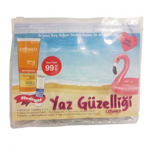 Cosmed - Cosmed Yağlı/Akneye Eğilim Gösteren Ciltler İçin Güneş Kremi Spf50 50ml - Yoğun Dudak Balmı HEDİYE!