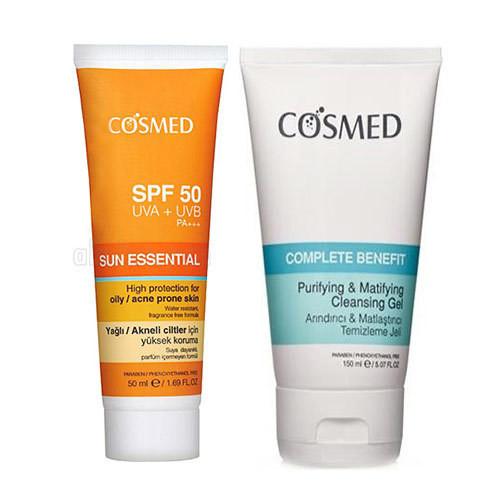 Cosmed - Cosmed Yağlı/Akneye Eğilim Gösteren Ciltler için Güneş Bakım SETİ