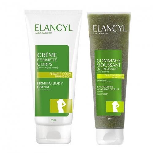 Elancyl - Creme Fermete Corps Sıkılaştırıcı Vücut Kremi 200ml + Energizing Foaming Scrub 150 ml