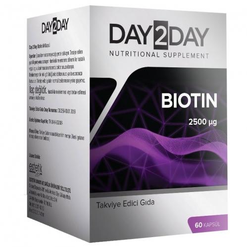 Day2Day - Day2Day Biotin 60 Kapsül Takviye Edici Gıda