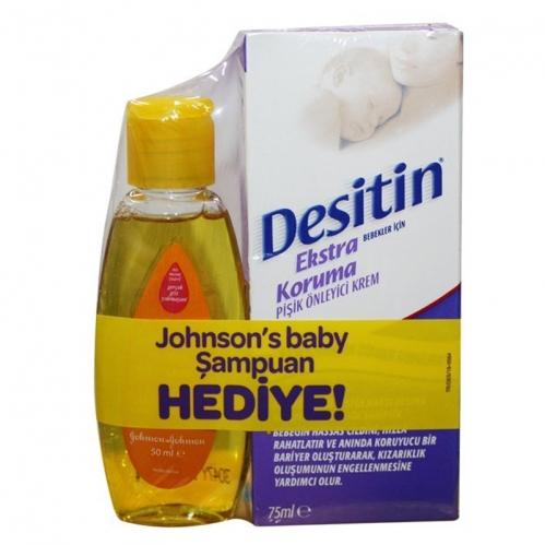 Desitin - Desitin Ekstra Koruma Pişik Bakım Kremi 75ml Johnsons Baby Şampuan 50 ml HEDİYE