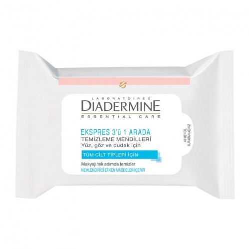 Diadermine - Diadermine Ekspres 3ü 1 Arada Temizleme Mendili 40 Adet
