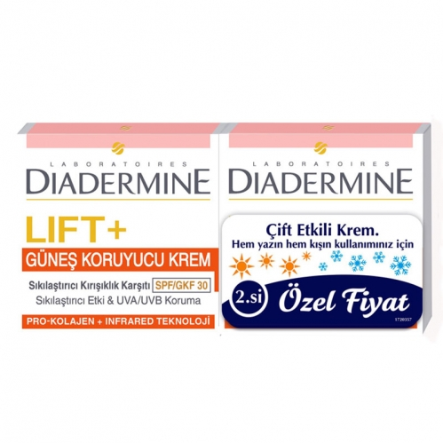 Diadermine - Diadermine Lift+ Güneş Koruyucu Sıkılaştırıcı Krem 50 ml + 50 ml
