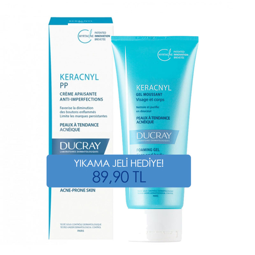 Ducray - Ducray Keracnyl PP Anti Imperfections Krem 30 ml | Keracnyl Jel 100 ml HEDİYELİ