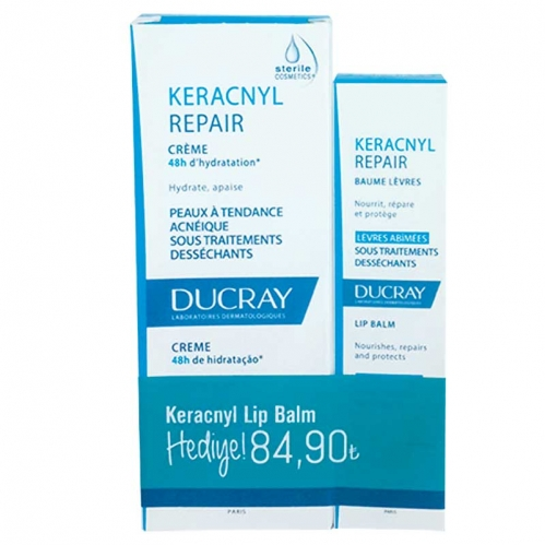Ducray - Ducray Keracnyl Repaır Cream 50 ml + Ducray Keracnyl Lip Balm 15 ml HEDİYE