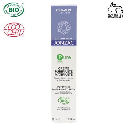 Eau Thermale Jonzac - Eau Thermale Jonzac Pure Organik Sertifikalı Hipoalerjenik Matlaştırıcı Arındırıcı Krem 50 ml