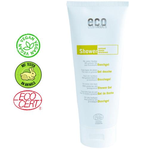 Eco Cosmetics - Eco cosmetics Organik Yeşil Çay ve Asma Yaprağı Özlü Duş Jeli 200 ml