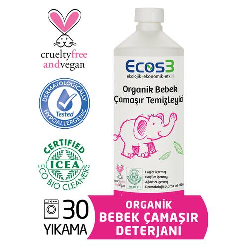 Ecos3 - Ecos 3 Organik Bebek Çamaşır Temizleyici 1050 ml