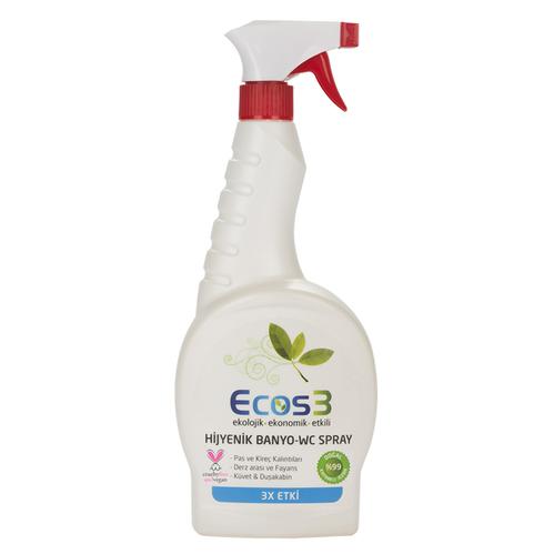 Ecos3 - Ecos3 Ekolojik Banyo ve Tuvalet Temizleyici Sprey 750ml
