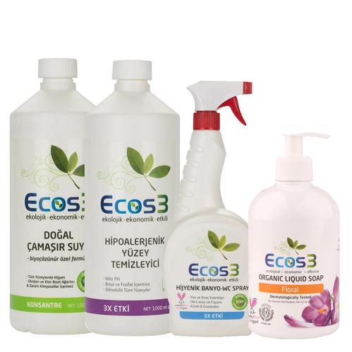 Ecos3 - Ecos3 Organik Temizlik Banyo Seti