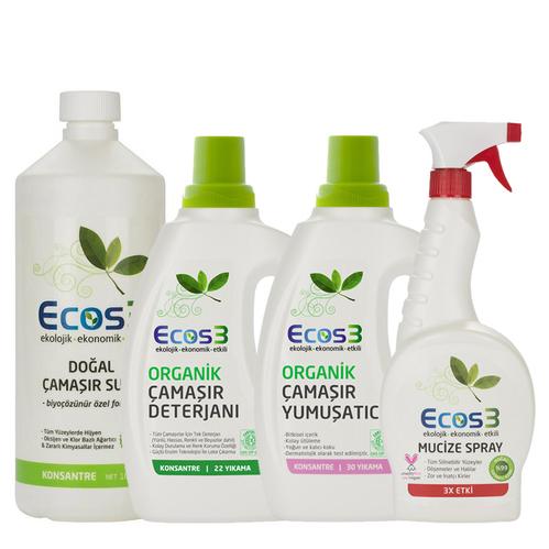 Ecos3 - Ecos3 Organik Temizlik Çamaşır Seti