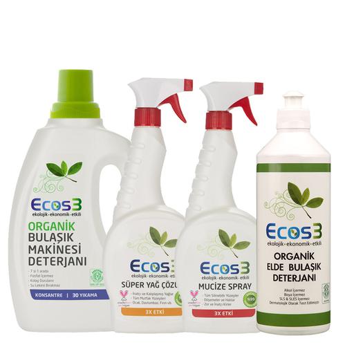 Ecos3 - Ecos3 Organik Temizlik Mutfak Seti