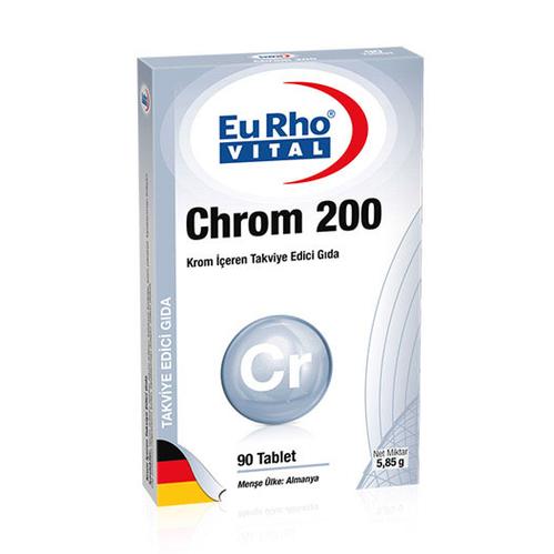 EuRho Vital - EuRho Vital Chrom 200 Takviye Edici Gıda 90 Tablet