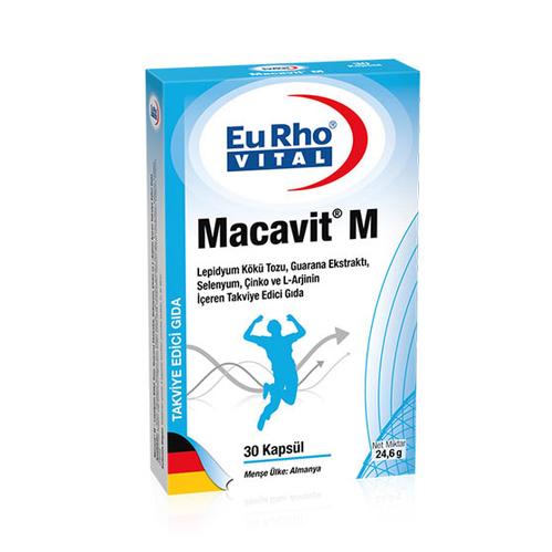 EuRho Vital - EuRho Vital Macavit M Takviye Edici Gıda 30 Kapsül