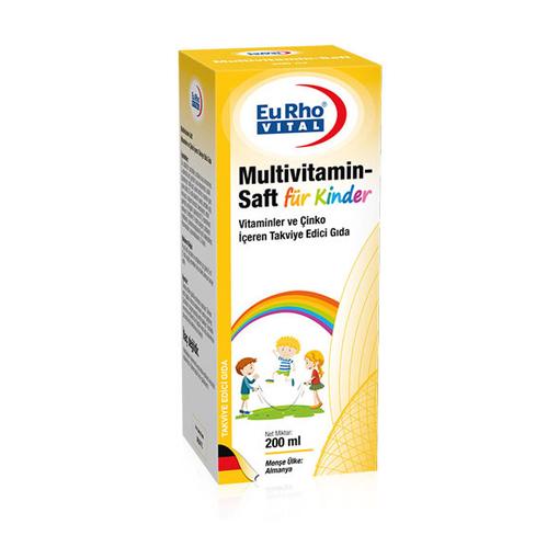 EuRho Vital - EuRho Vital Multivitamin-Saft Takviye Edici Gıda 200 ml