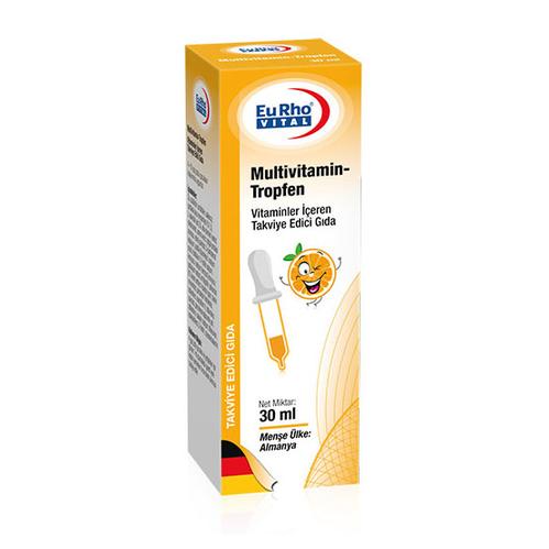 EuRho Vital - EuRho Vital Multivitamin-Tropfen Takviye Edici Gıda 30 ml
