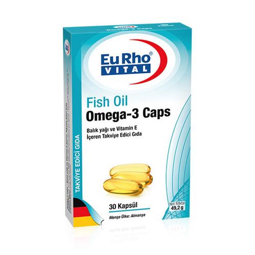 EuRho Vital - EuRho Vital Omega-3 Caps Takviye Edici Gıda 30 Kapsül