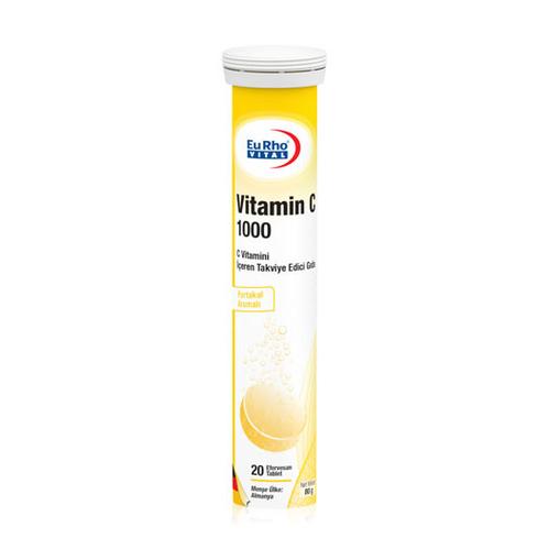 EuRho Vital - EuRho Vital Vitamin C 1000 Takviye Edici Gıda 20 Efervesan Tablet