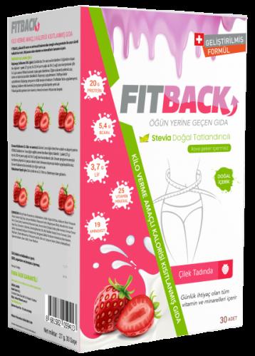 Fitback - Fitback Çilek Aromalı Enerjisi Kısıtlanmış Gıda 30 Adet