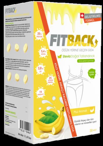 Fitback - Fitback Muz Aromalı Enerjisi Kısıtlanmış Gıda 30 Adet