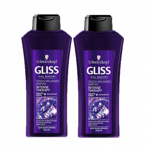 Gliss - Gliss Intense Theraphy Shampoo 550 ml+550 ml