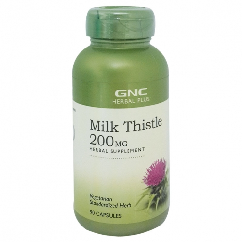 GNC - GNC Herbal Plus Milk Thistle 200MG 90 Kapsül