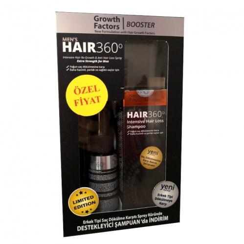 Hair 360 - Hair 360 Men s GF Booster Erkek Tipi Saç Dökülmesine Karşı SET