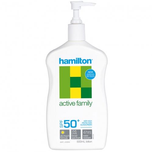 Hamilton - Hamilton Active Family SPF50+ Losyon 500ml
