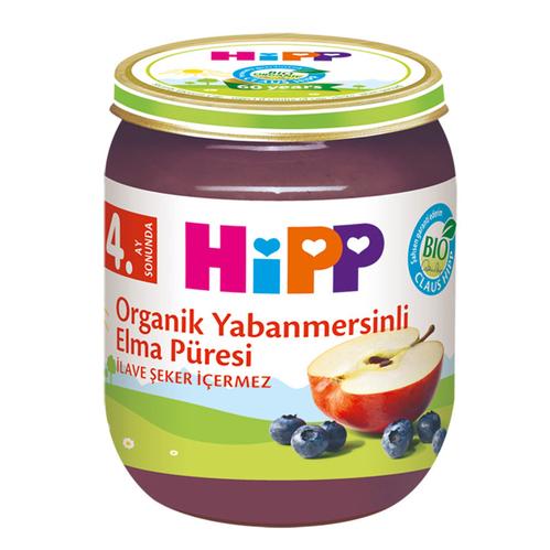 Hipp - Hipp Organik Yabanmersinli Elma Püresi 125 gr