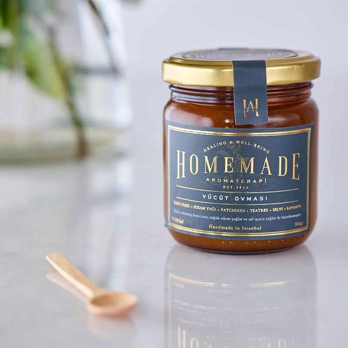 Homemade Aromaterapi - Homemade Aromaterapi Patchouli Vücut Ovması 250 gr