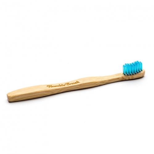 Humble Brush - Humble Brush Doğal Yumuşak Çocuklar için Diş Fırçası - Mavi